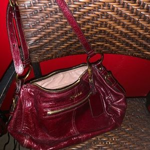 Prada Classic Oxblood Bag Goldtone Hardware